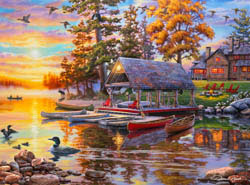 Canoe Camp Lakes / Rivers / Streams Jigsaw Puzzle