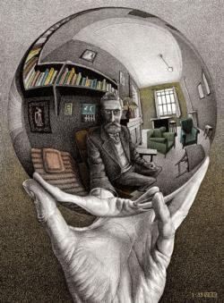 Self Portrait MC Escher Domestic Scene Jigsaw Puzzle