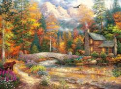 Call of the Wild Cottage / Cabin Jigsaw Puzzle