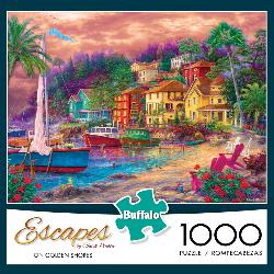On Golden Shores (Escapes) Seascape / Coastal Living Jigsaw Puzzle