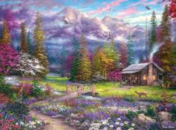 Inspirations of Spring Cottage / Cabin Jigsaw Puzzle