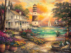 Cottage By The Sea Fish Jigsaw Puzzle
