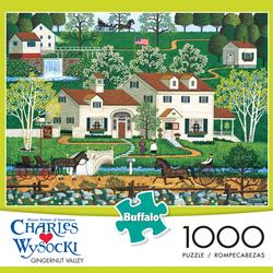 Gingernut Valley Folk Art Jigsaw Puzzle