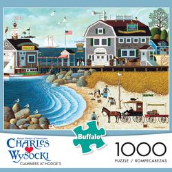 Clammers at Hodge's Seascape / Coastal Living Jigsaw Puzzle