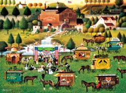 Rally at Dandelion Mill Folk Art Jigsaw Puzzle