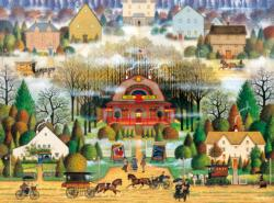 Melodrama in the Mist Main Street / Small Town Jigsaw Puzzle