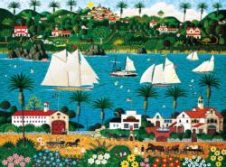 Old California Folk Art Jigsaw Puzzle