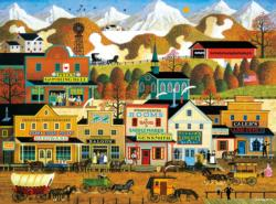 Pete's Gambling Hall Main Street / Small Town Jigsaw Puzzle