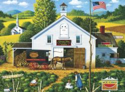 Catchin' Bugs Americana & Folk Art Jigsaw Puzzle