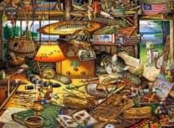 Max in the Adirondacks Fishing Jigsaw Puzzle