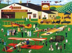 Four Aces Flying School - Scratch and Dent Americana & Folk Art Jigsaw Puzzle