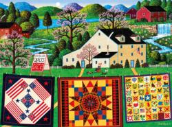 The Quiltmaker Lady - Scratch and Dent Americana & Folk Art Jigsaw Puzzle