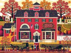 Benjamin's Music Store Americana & Folk Art Jigsaw Puzzle