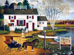 Birch Point Cove Americana & Folk Art Jigsaw Puzzle