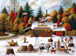 Vermont Maple Tree Tappers Forest Jigsaw Puzzle