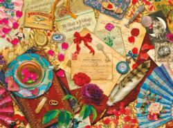 A Vintage Love Letter Pattern / Assortment Jigsaw Puzzle