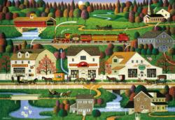 Yankee Wink Hollow Folk Art Large Piece