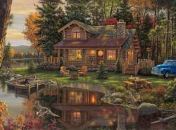 Peace like a River Cottage/Cabin Jigsaw Puzzle