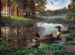 Northern Tranquility Cottage / Cabin Jigsaw Puzzle