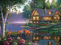 Sweet Serenity Cottage / Cabin Jigsaw Puzzle