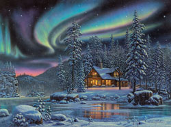 Aurora Bliss Snow Jigsaw Puzzle
