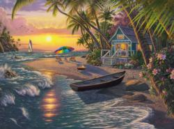 Sunset Beach Sunrise / Sunset Jigsaw Puzzle