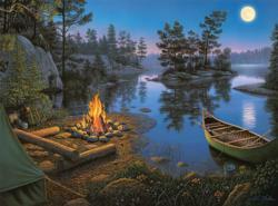 Moonlight Bay Night Jigsaw Puzzle