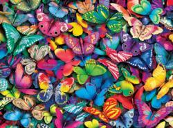 Butterflies Pattern / Assortment Jigsaw Puzzle
