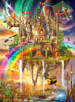 Rainbow City - Scratch and Dent Fantasy Jigsaw Puzzle