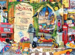 London (Life is an Open Book) Collage Jigsaw Puzzle