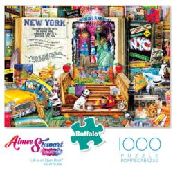 New York (Life is an Open Book) Collage Jigsaw Puzzle
