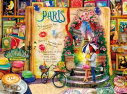 Paris (Life is an Open Book) Collage Jigsaw Puzzle