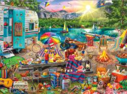 The Family Campsite Picnic Jigsaw Puzzle