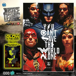 Justice League - You Can't Save the World Alone - Glow in the Dark Jigsaw Puzzle