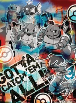Squirtle Evolution Graffiti Video Game Jigsaw Puzzle