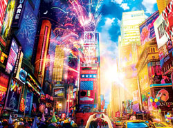 Vibrant Times Square New Year's Eve Jigsaw Puzzle