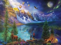 Lake Moraine Journey National Parks Jigsaw Puzzle