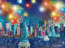 Manhattan Celebration Night Jigsaw Puzzle