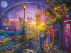 London Rain United Kingdom Jigsaw Puzzle