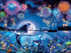 The Dramatic Night Fourth of July Jigsaw Puzzle