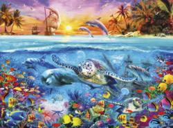 Turtle Reef Fish Jigsaw Puzzle