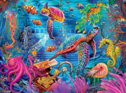 Colorful Ocean Turtles Jigsaw Puzzle
