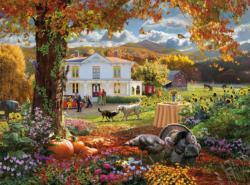 Autumn Paradise Flowers Jigsaw Puzzle