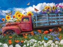 Wildflowers on the Farm Flowers Jigsaw Puzzle