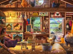 Country Ladies Chickens & Roosters Jigsaw Puzzle