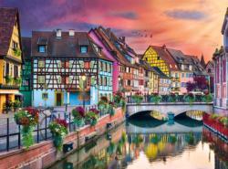 Fairytale Village Street Scene Jigsaw Puzzle