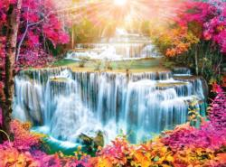 Chang Wat Kanchanaburi, Thailand Waterfalls Jigsaw Puzzle