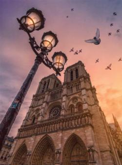 Wonders of Notre Dame Churches Jigsaw Puzzle