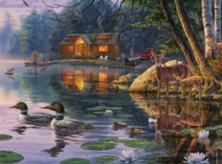 Early Reflections Cottage / Cabin Jigsaw Puzzle