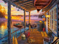 Opening Day Cottage / Cabin Jigsaw Puzzle
